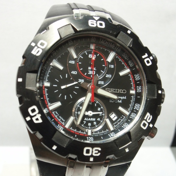 Seiko Accessories Rare 7t62 Mens Alarm Chronograph Dive Watch